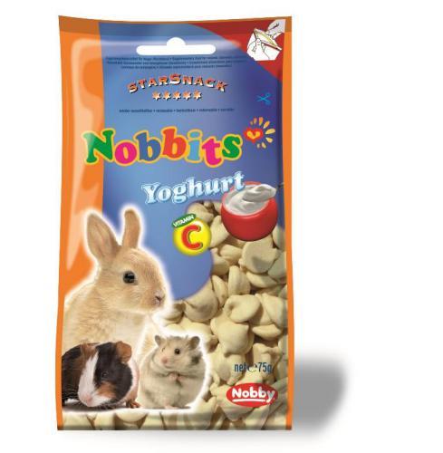 Nobby StarSnack Nobbits pamlsky pro hlodavce jogurtové 75g