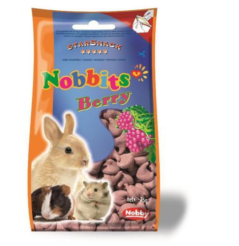 Nobby StarSnack Nobbits Berry pamlsky pro hlodavce plody 75g