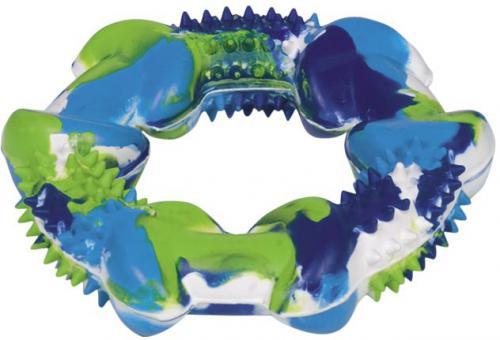 Nobby silná gumová hraèka kruh barevný 12cm