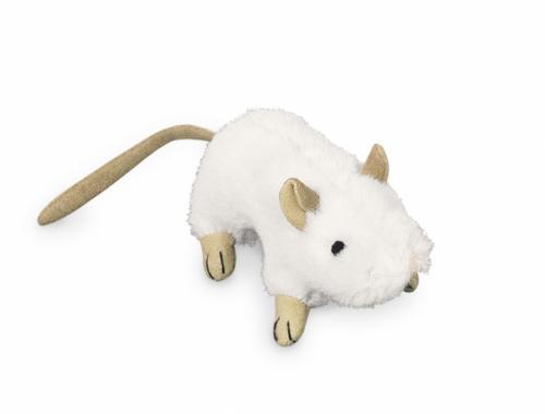 Nobby plyšová myš šustivá 10cm bílá