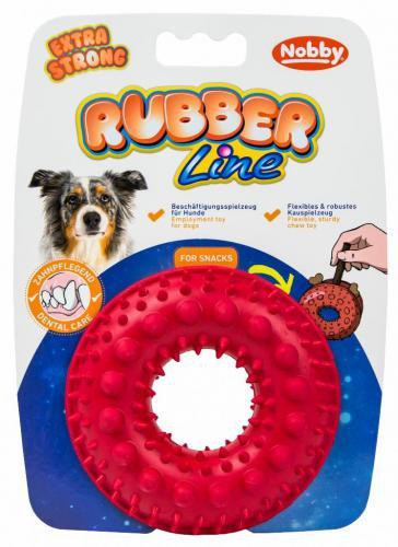 Nobby silná gumová hraèka na pamlsky kruh 10,5 cm