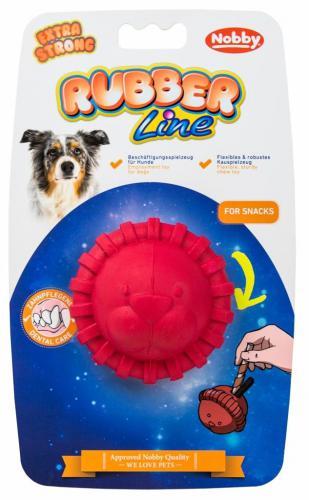 Nobby silná gumová hraèka na pamlsky lev 7,5 cm