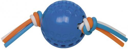 Nobby hraèka TPR míèek se silikonovým lanem modrá