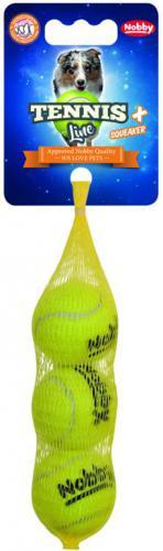 Nobby hraèka tenisový míèek XS pískátko 4cm 3ks