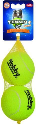 Nobby hraèka tenisový míèek L pískátko 8,5cm 2ks
