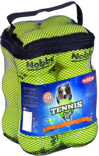 Nobby Tennis Line hraèka tenisový míèek žlutý M 6,5cm 12ks