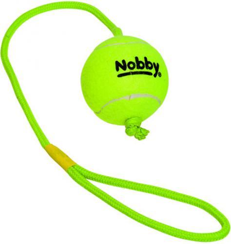 Nobby hraèka tenisový míèek L 7,5cm s lanem 70cm