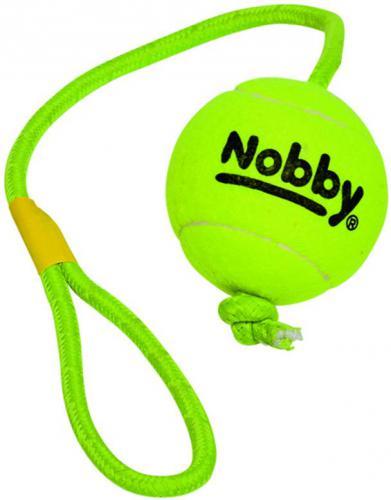 Nobby hraèka tenisový míèek XL 10cm s lanem 70cm