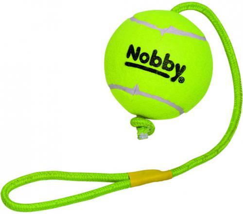 Nobby hraèka tenisový míèek XXL 12,5cm s lanem 70cm