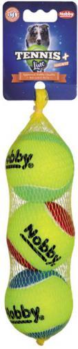 Nobby Tennis Line hraèka tenisový míèek barevný M 6,5cm 3ks