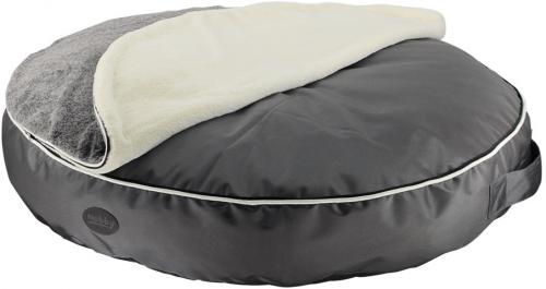 Nobby MELOR kulatá matrace s dekou pro psy šedá 100x15cm
