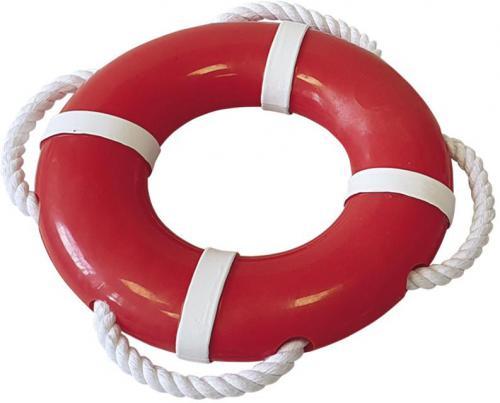 Nobby hraèka Rubber Line záchranný kruh s lanem 15 cm