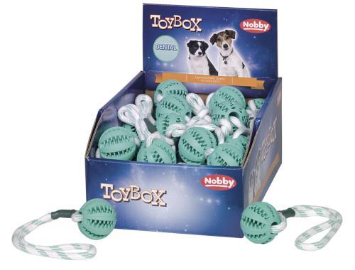 Nobby TOYBOX dentální míèek s lanem 5cm 32cm