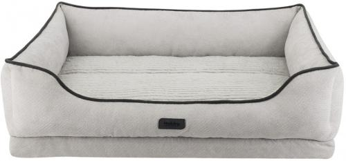 Nobby LAGO ortopedický obdelníkový pelíšek svìtle šedá 90x70x5/19cm