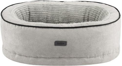 Nobby LAGO ortopedický oválný pelíšek svìtle šedý 65x47x5/17cm