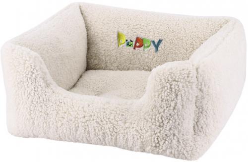 Nobby PUPPY obdelníkový pelíšek barva krémovì bílá 45x40x18cm