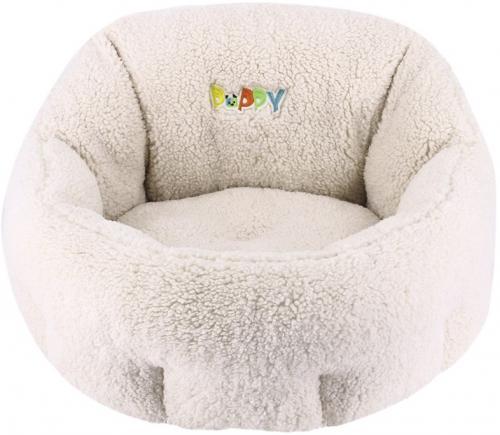 Nobby PUPPY komfortní oválný pelíšek barva krémovì bílá 50x45x32cm