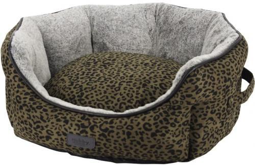 Nobby LEO komfortní pelíšek leopardí hnìdá 45 x 40 x 19 cm