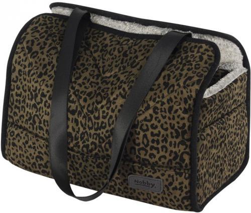 Nobby pøepravní taška LEO pro psy do 6kg leopardí hnìdá 35x20x30cm