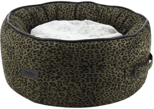 Nobby LEO komfortní oválný pelíšek leopardí hnìdá 45x19cm