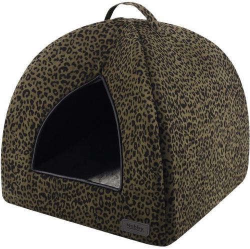 Nobby LEO jeskynì leopard hnìdá 38x38x38cm