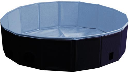 Nobby bazén pro psa skládací modrý s krytem M 120x30cm