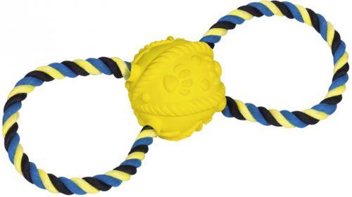 Nobby hraèka pro psy latexový míè s lanem 31cm