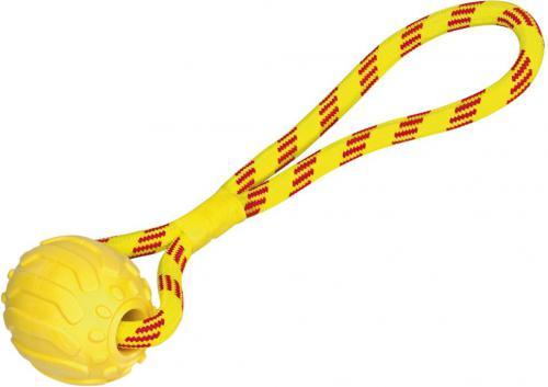 Nobby hraèka pro psy pøetahovací TRP míè s lanem 11,5cm