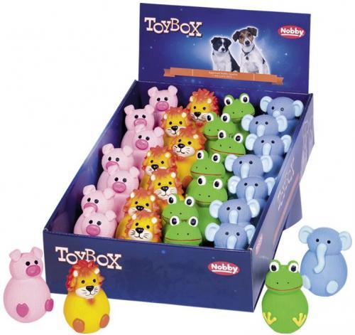 Nobby Toy Box pes latexové hraèky zvíøátka Stand-up 28ks
