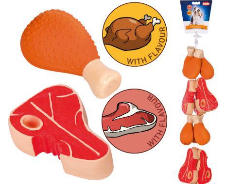 Nobby Toy Box hraèka s vùní latex BARBECUE 13,5-15 cm 12 ks