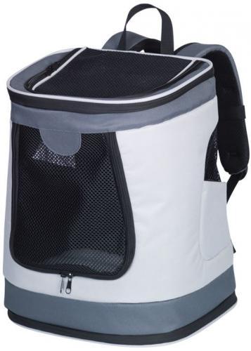 Nobby PLATA zadní batoh na psa do 10kg šedá 34x30x43cm