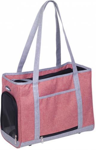 Nobby pøepravní taška TOMMA starorùžová šedá 40x22x28cm