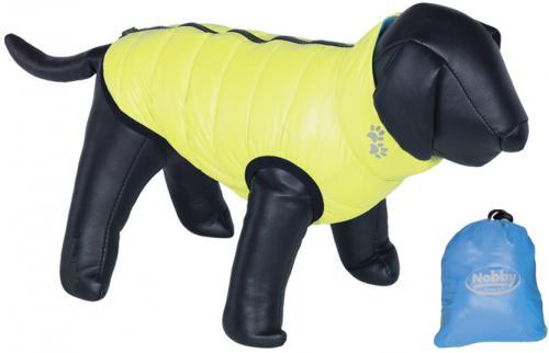 Nobby prošívaná vesta LIGHT pro psa oboustranná žlutá / modrá 20cm