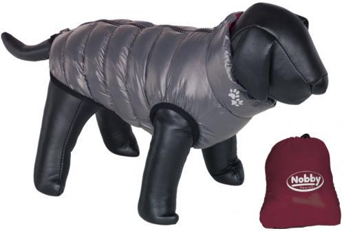 Nobby prošívaná vesta LIGHT pro psa oboustranná šedá / èervená 20cm