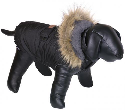Nobby obleèek pro psa LIAM s kožíškem èerná 48cm