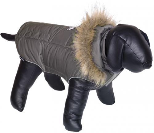 Nobby bunda pro psa ELNA s kožíškem šedá 26cm