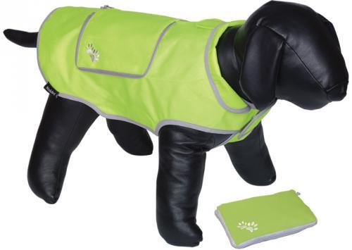 Nobby reflexní nepromokavá vesta BANAT pro psa 20cm zelená neon