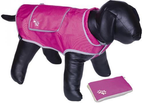 Nobby reflexní nepromokavá vesta BANAT pro psa 20cm rùžová