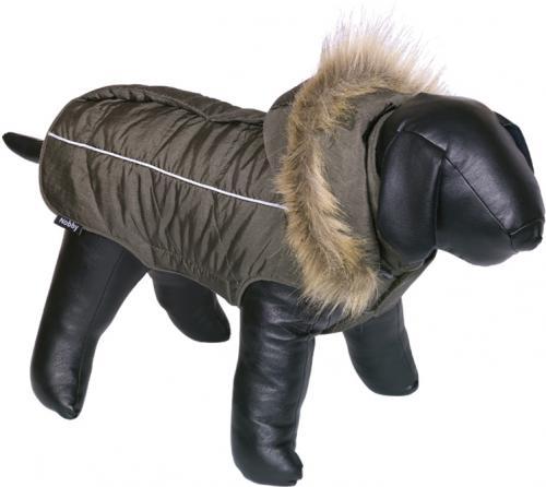 Nobby obleèek pro psa ARTIC zelená s kožíškem 48cm