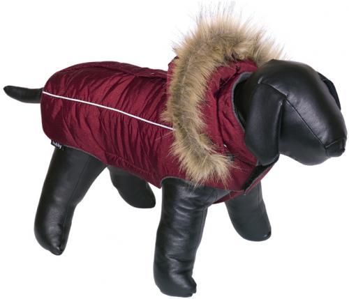 Nobby obleèek pro psa ARTIC èervená s kožíškem 48cm