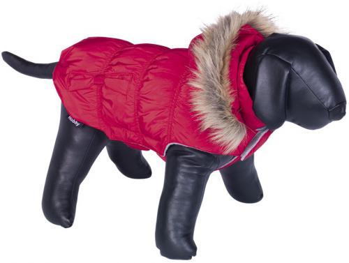 Nobby DAIKI obleèek pro psa èervená s kožíškem 20cm