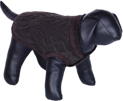Nobby JILL pletený svetr pro psy hnìdá 20cm