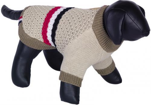 Nobby SIRA pletený svetr pro psy béžová 20cm
