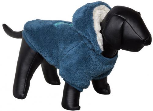 Nobby Teddy oboustranná mikina pro psy s kapucí modrá 20cm