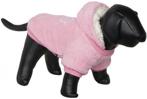 Nobby Teddy oboustranná mikina pro psy s kapucí rùžová 20cm