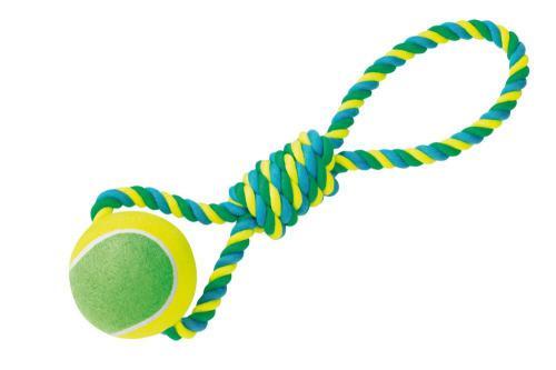 Nobby hraèka XXL pro psy tenisák 12cm s lanem