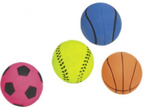 Nobby hraèka pro psy míè mechová guma 5,7cm 4ks