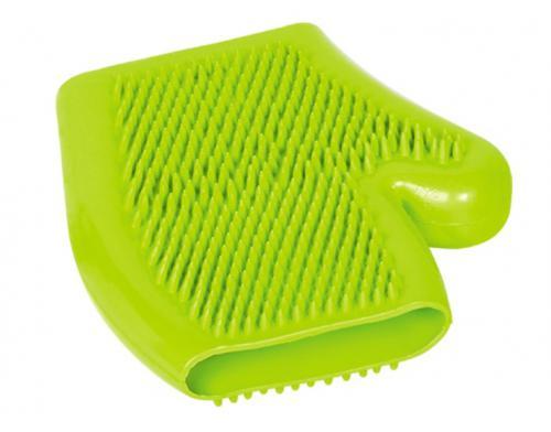 Nobby èistící a masážní rukavice zelená 16x18cm