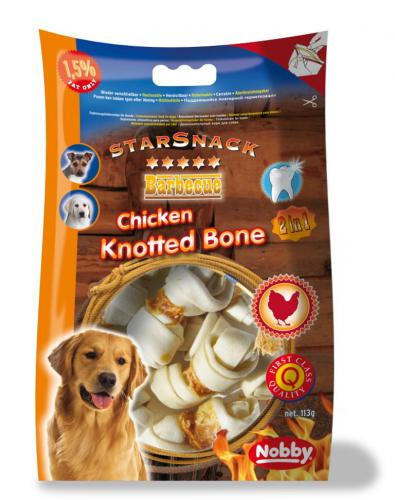 Nobby StarSnack BBQ Chicken Knotted Bone pamlsky 113g