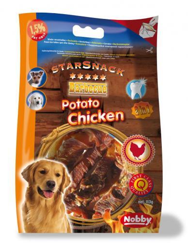 Nobby StarSnack BBQ Potato Chicken pamlsky 140g
